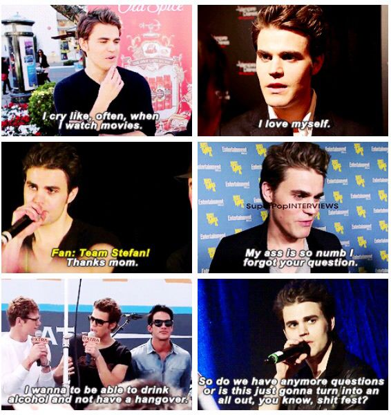 Paul Wesley. So different from Stefan but hilarious.