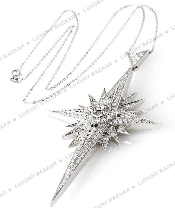 Asprey white gold and diamond Star Pendant