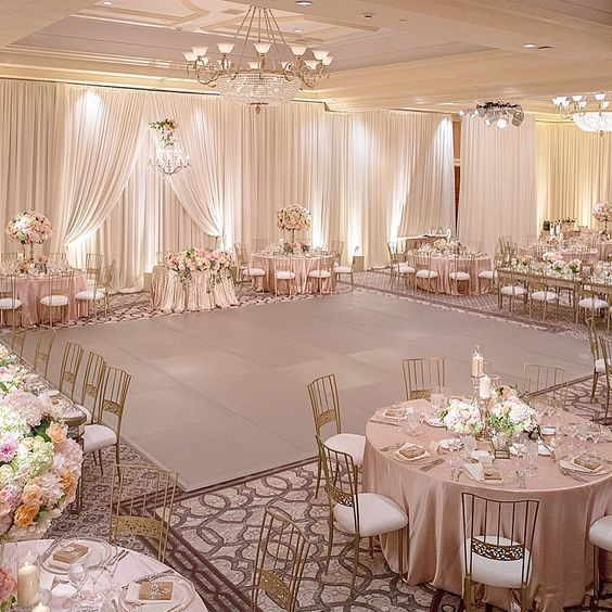 A rose gold dance floor oh yes yes yes such a gorgeous for Yes decoration