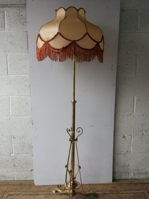 Antiques atlas art nouveau brass and copper standard lamp