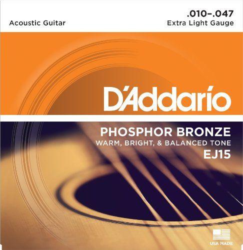 Offerta Di Oggi D Addario Ej15 Acoustic Guitar Strings A Eur 509 00 Invece Di Eur 560 00 Acoustic Guitar Strings Acoustic Guitar Guitar