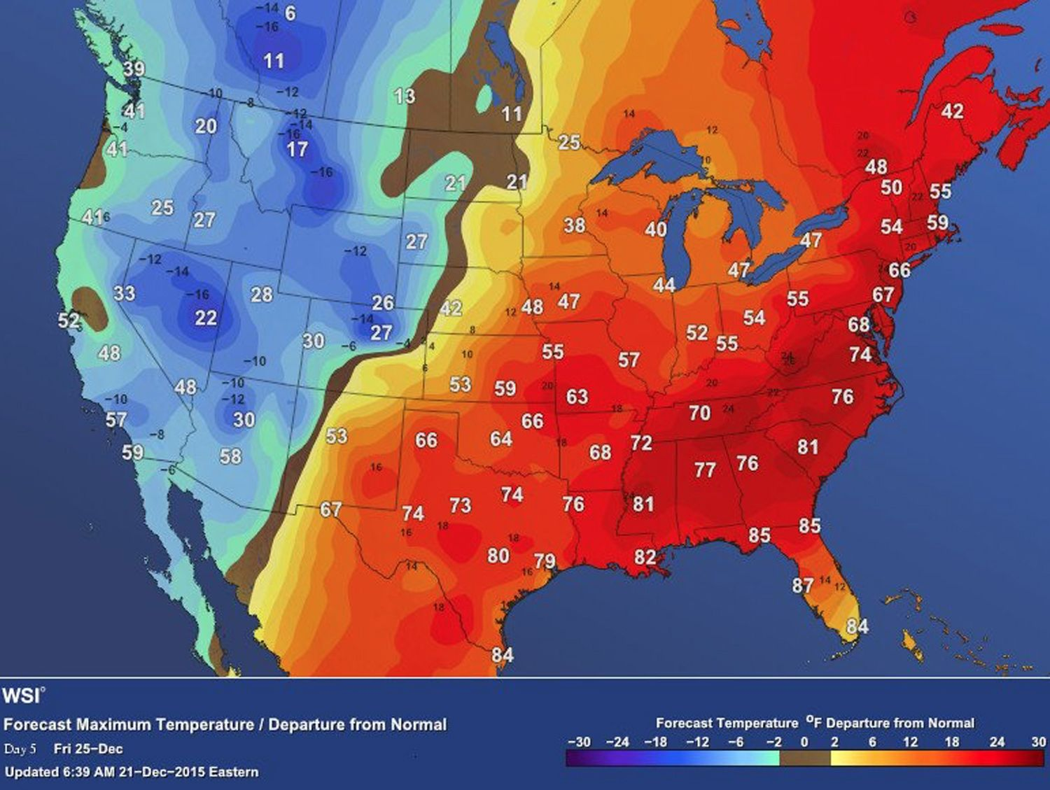 Weather Maps Illustrate The Strangest Christmas Weather In History - Global weather map
