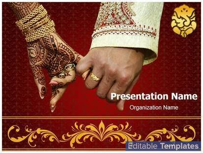 Wedding cards powerpoint template is a free wedding powerpoint indian wedding design template this indian wedding ppt template can be associated with bride toneelgroepblik Images