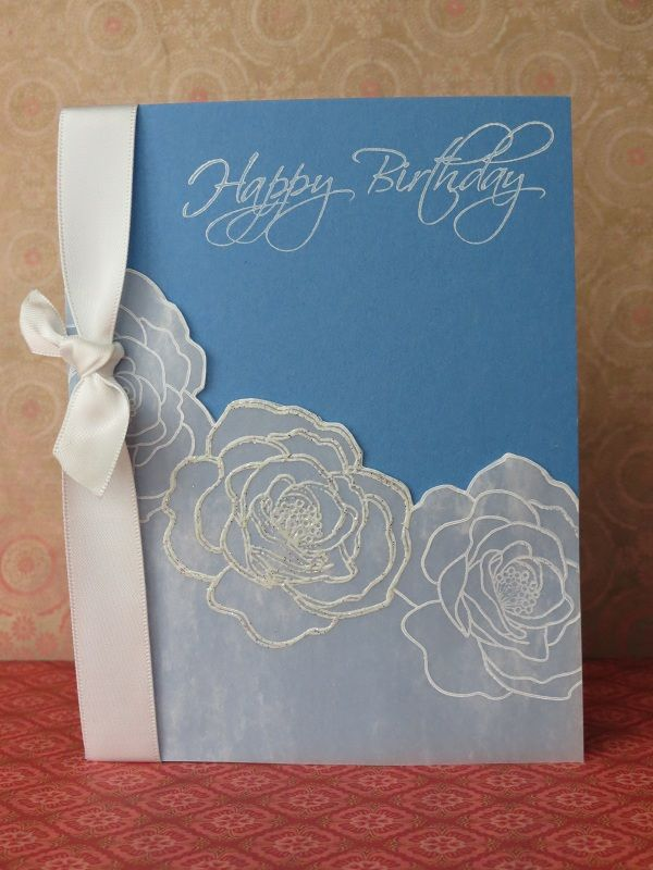 Birthday Card with Vellum