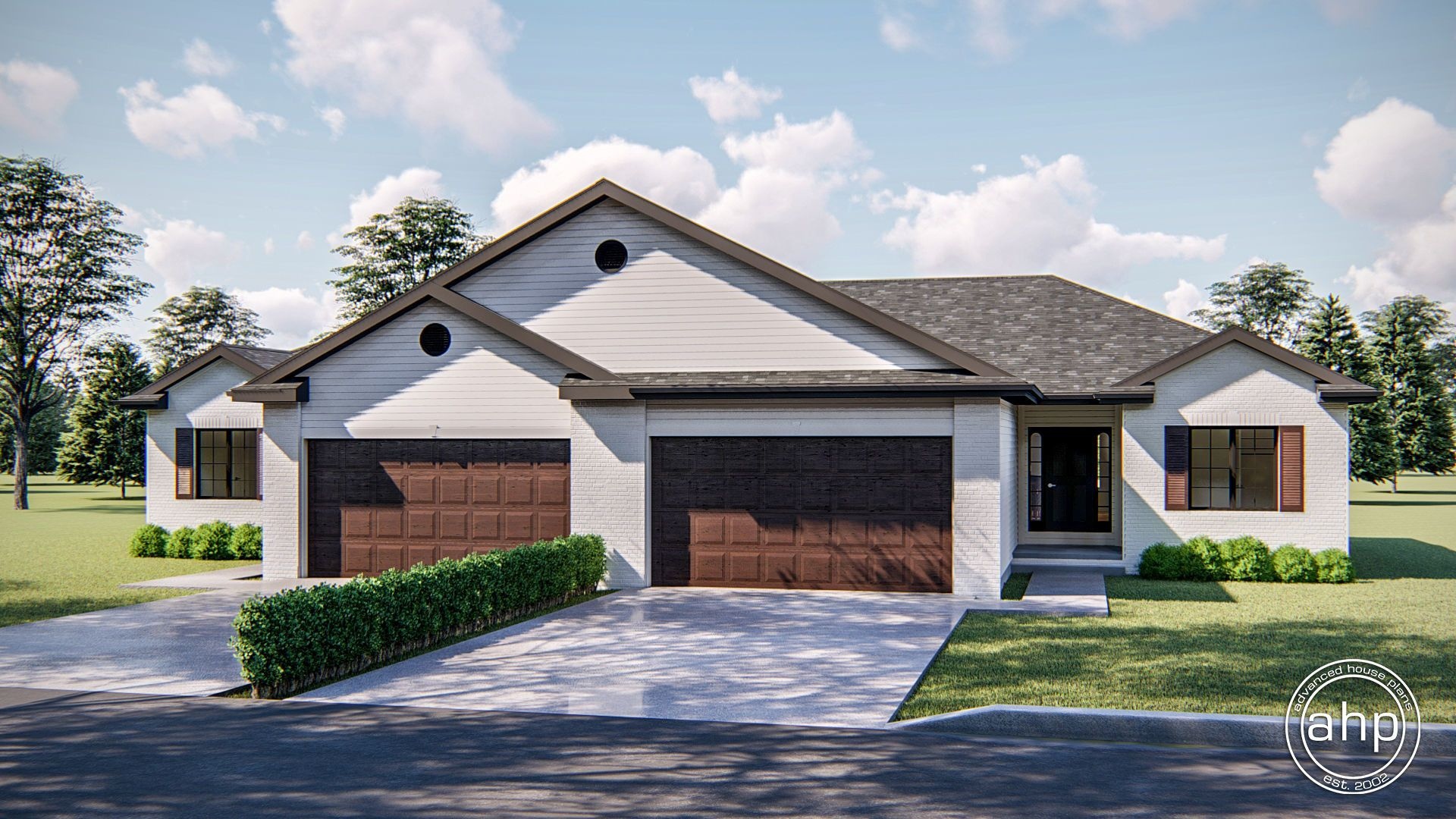 1 Story Multi Family Traditional House Plan Bosworth In 2020 Family House Plans Family House House Plans
