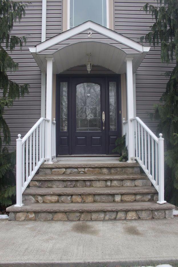 Striking Front Door Colors for Grey House in Creative Design : Big ...