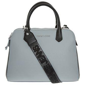 513eaa5c50 Versace Jeans Grey   Black Grained Shoulder Bag