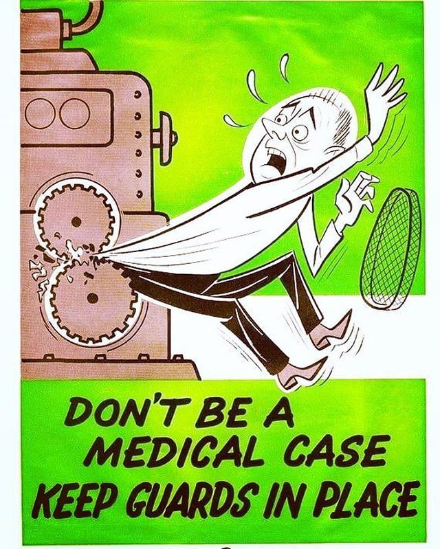 SAFETY SUNDAY FUNDAY DONT BE A MEDICAL CASE KEEP GUARDS