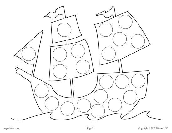 FREE Thanksgiving Do-A-Dot Printables and Dot Art Painting