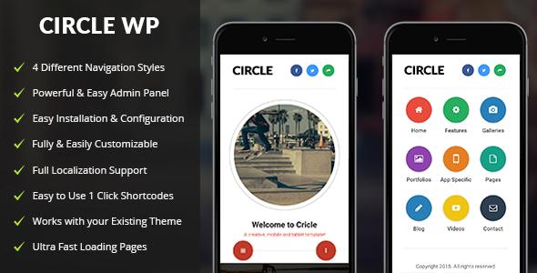 Circle Mobile | Mobile WordPress Theme | Wordpress
