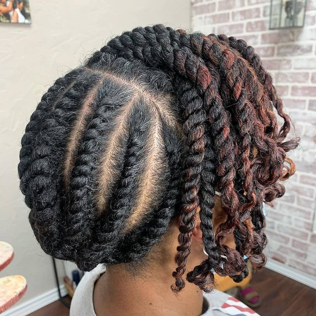 18+ Flat twist natural hair ideas