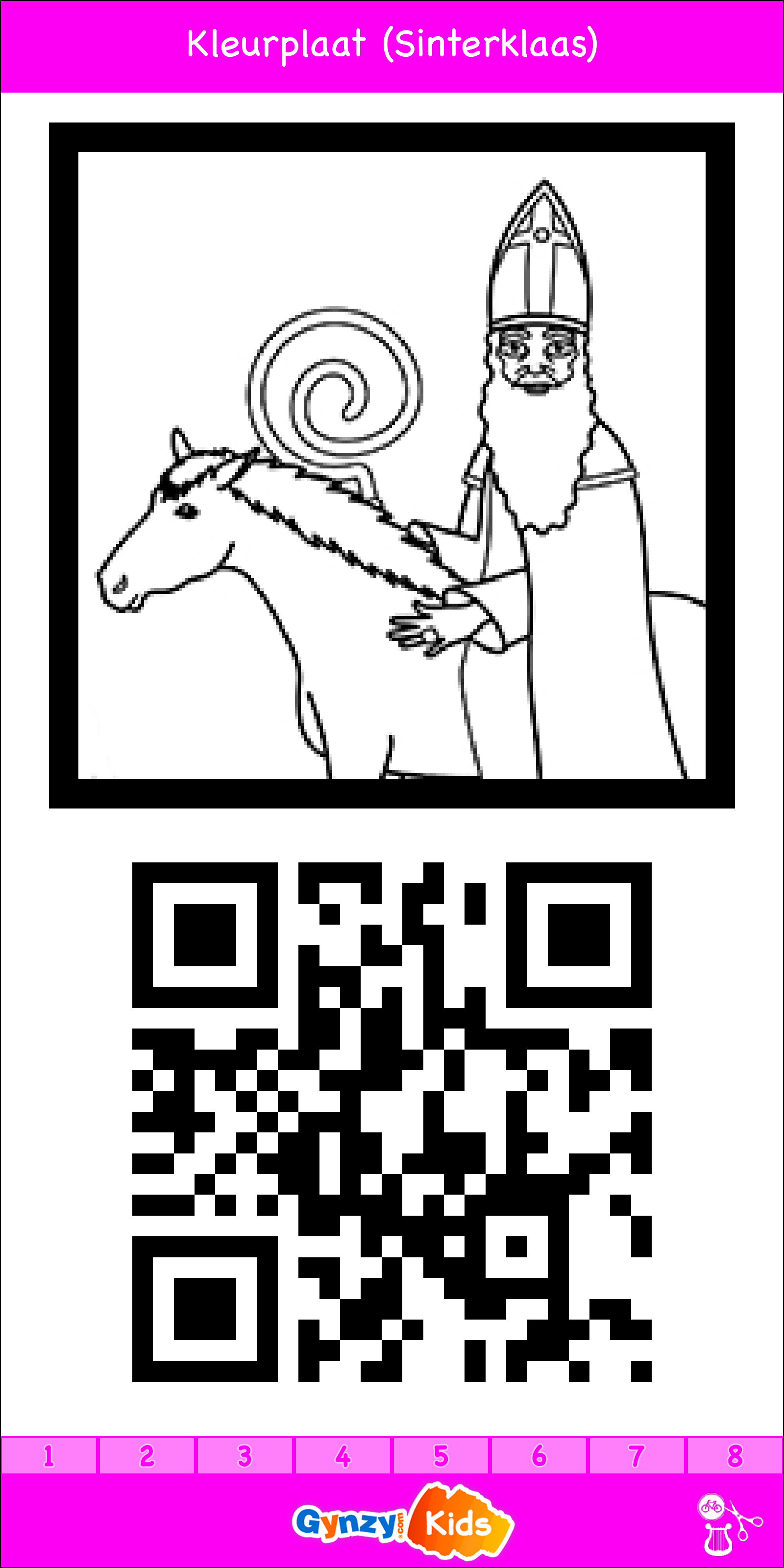 kleurplaten thema sinterklaas qr code oefening