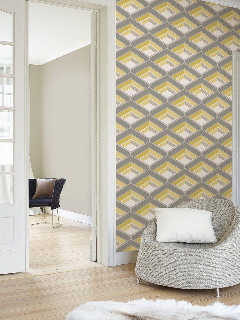Arthouse Scandi Triangle Orange Wallpaper 908207 Geometric Abstract Shapes Grey