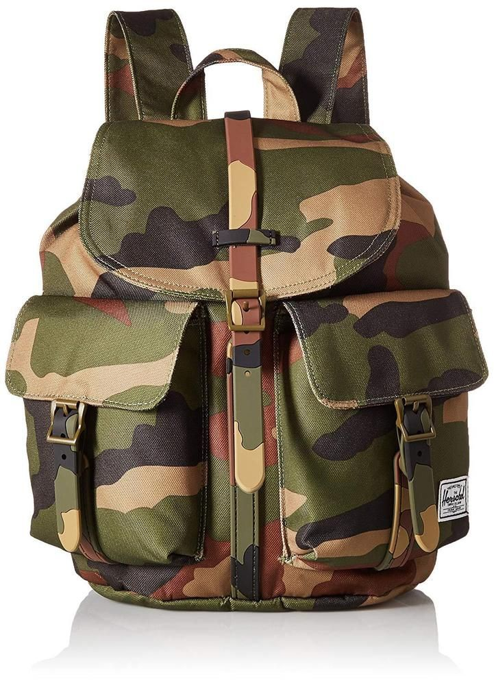 9da75d94ffa6 Dawson XS Backpack Woodland Camo Brown Magnetic Flap Bag  Herschel  Backpack   camouflage  green  brown  herschelsupply