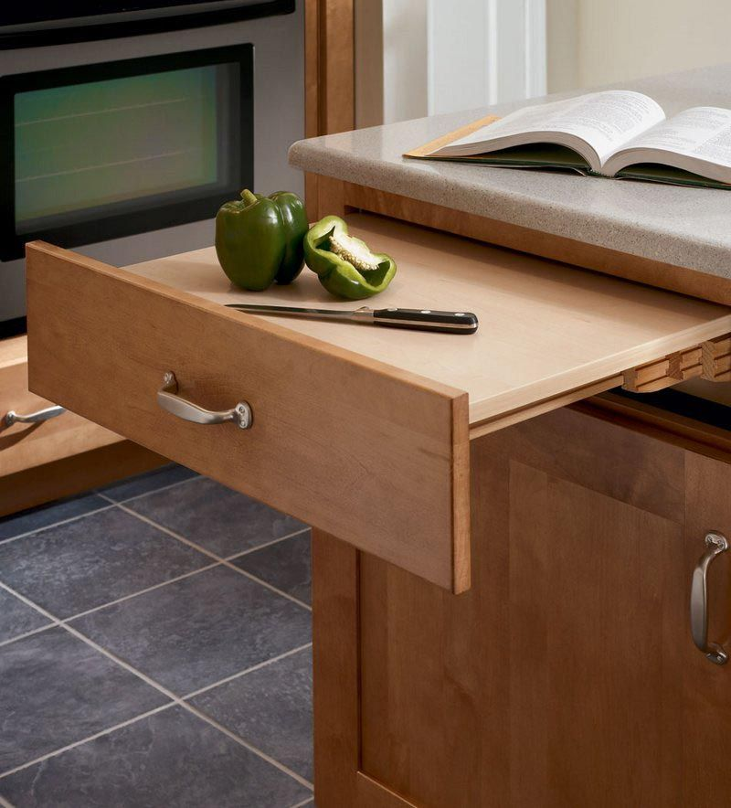 Short On Counter Space This Base Cabinet Features A Pull Out Work