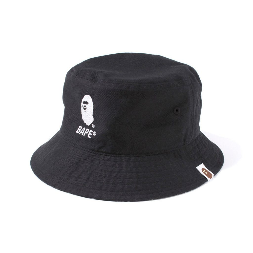 124b1524f994e Bape BUCKET HAT Black