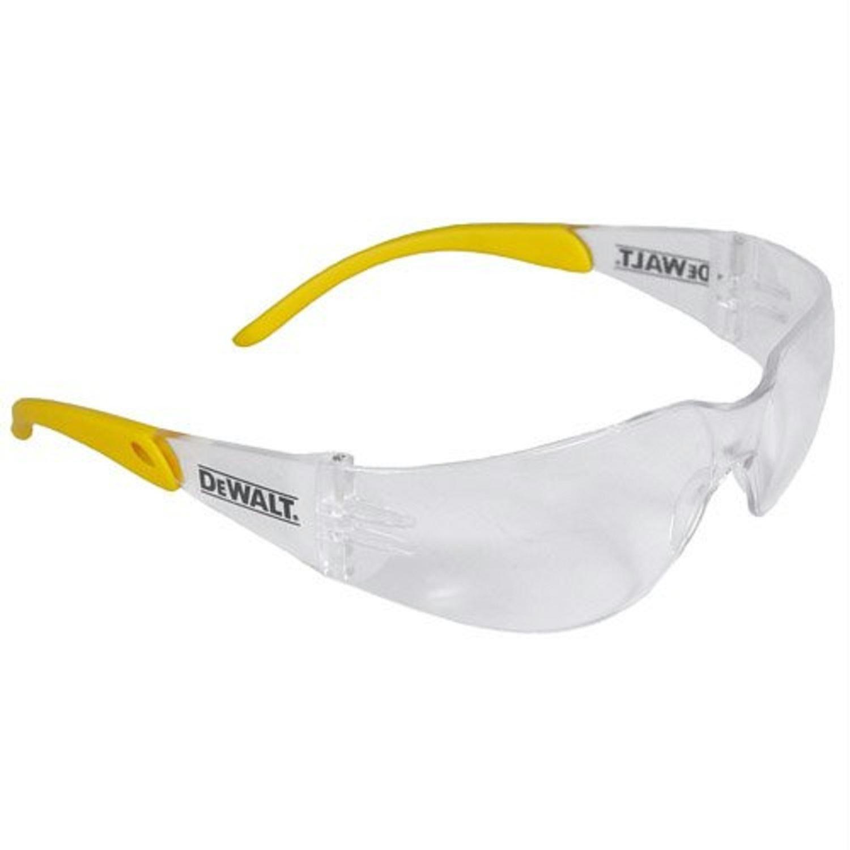 Dewalt protector safety glasses wclear wraparound frame
