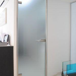 Frameless Frosted Glass Interior Doors