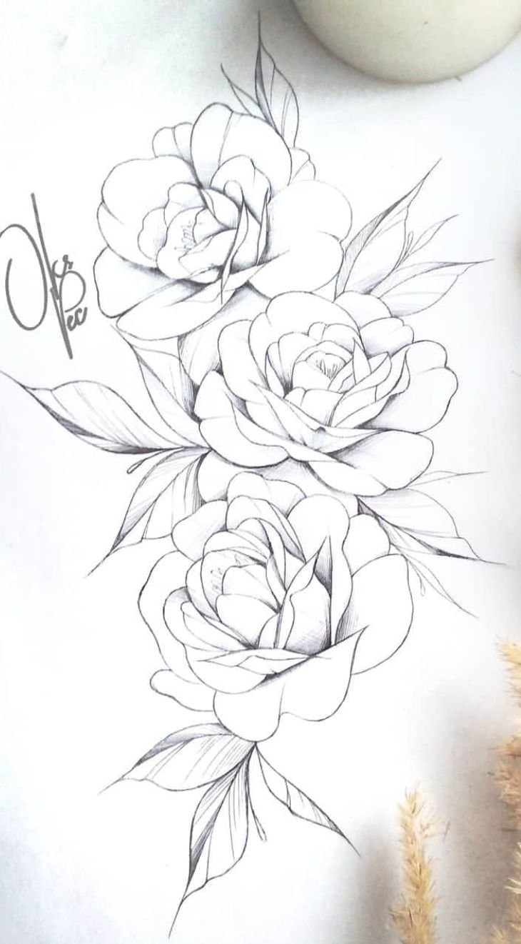 Eskizy Floral Tattoo Design Flower Drawing Floral Drawing