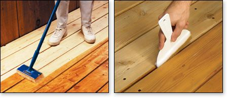 Applying Stain To Deck Boards And Getting Between The Cracks Stain Applicators Deck Boards Paint Pads