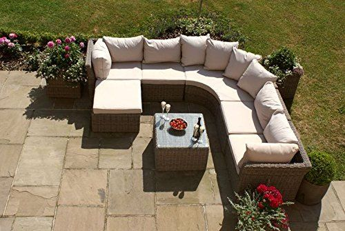 Maze Rattan Winchester Rounded Nook Team This modular set is trendy ...