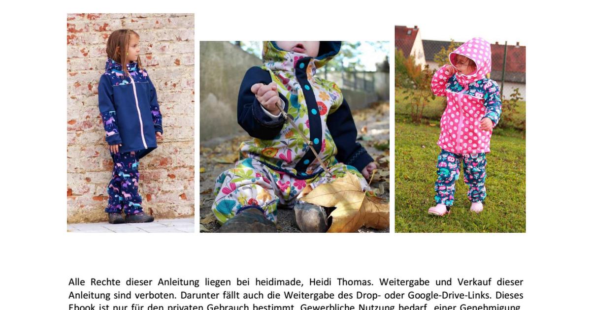 Softshelljacke Neptun by heidimade.pdf | Schnittmuster ...