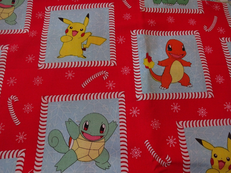 Festive pokemon characters handmade cotton pillowcase