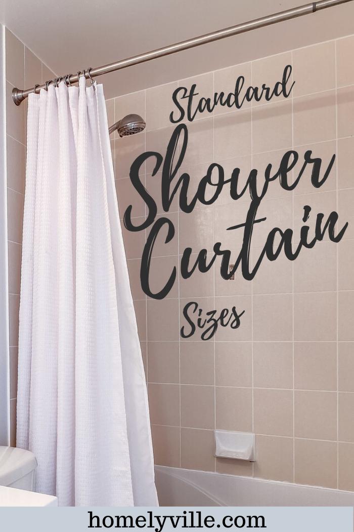 standard shower curtain sizes