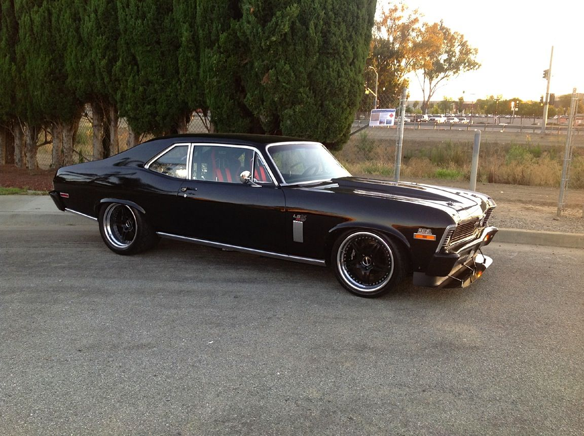 All Chevy black chevy nova : 70 Nova SS is powered by a LS6 and features Speedtech Performance ...