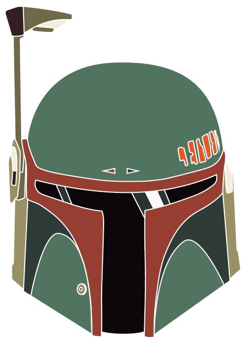 Boba Fett Helmet Color Vinyl Decal Boba Fett Helmet Star Wars Helmet Boba Fett