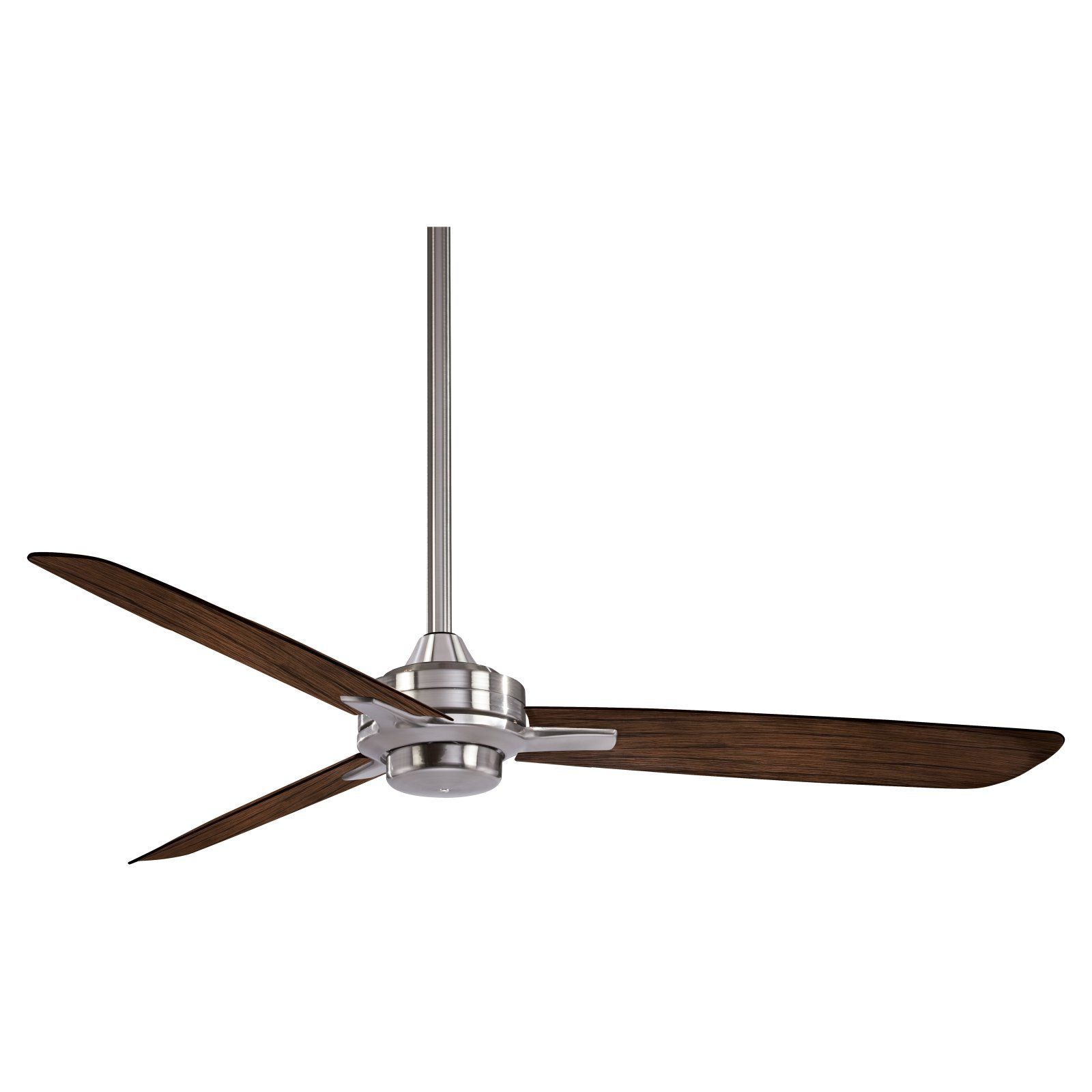 Minka Aire Rudolph F727 Ceiling Fan Brushed Nickel Medium Maple