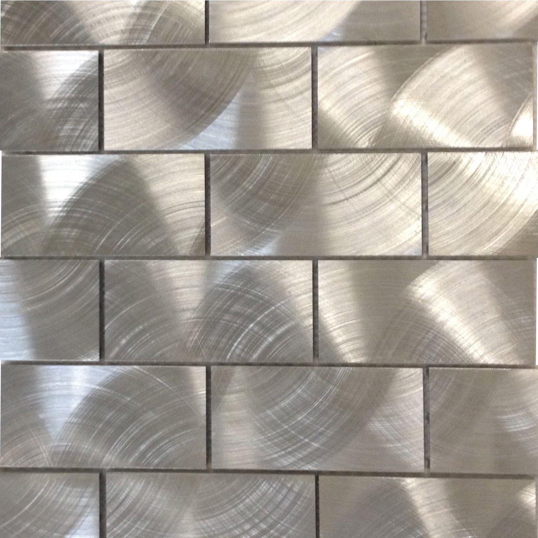 Industrial silver x aluminum tile merinas salon pinterest