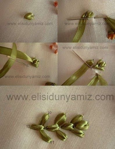 ribbon foliage embroidery tutorial