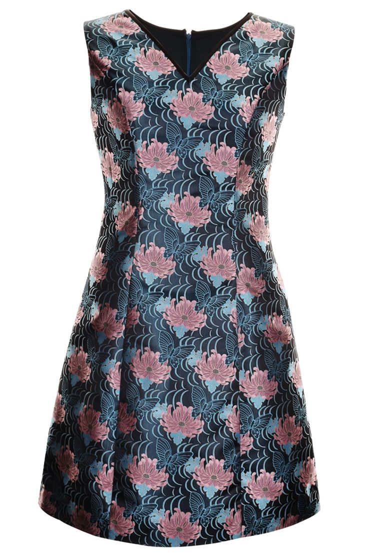 >> Click to Buy << Vintage Flower Print Women Sheath Dress V-Neck Sleeveless Dreses 084A693B1 #Affiliate