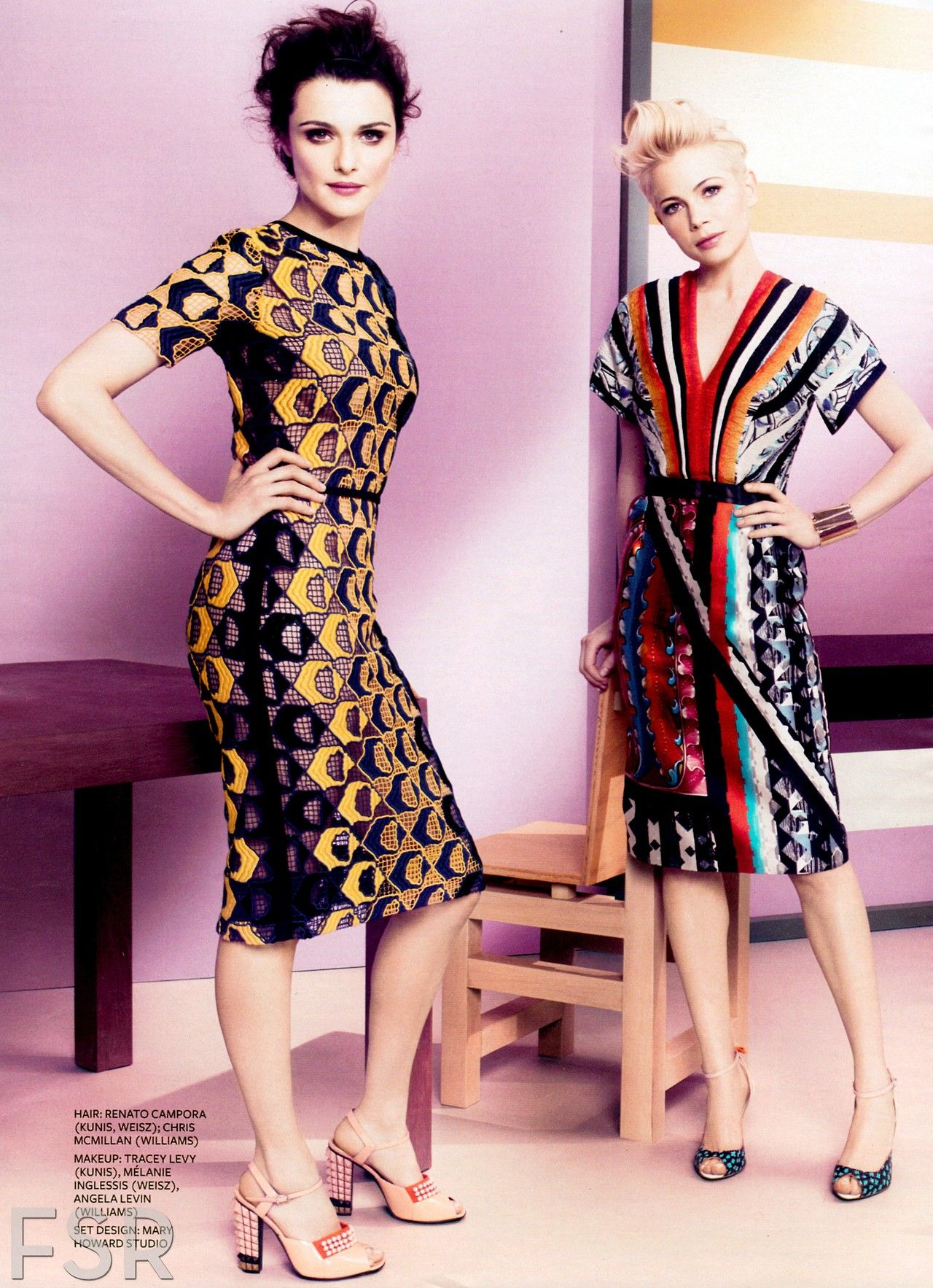 Michelle WIlliams & Rachel Weisz by Michelangelo Di Battista for In Style