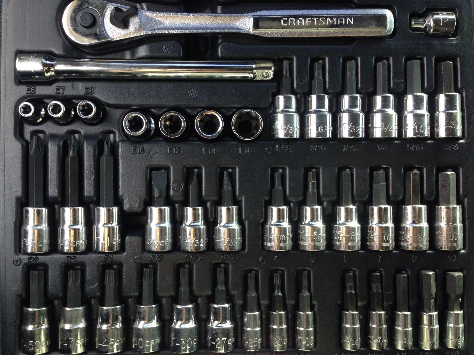 5b95554b203 New Craftsman 42 PC Socket Wrench Set Ratchet Extension Hex Torx Screwdriver