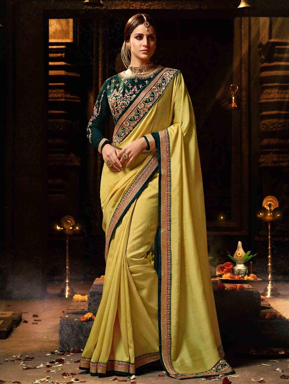 Yellow silk saree yellow silk saree with zari  new saris  pinterest  silk sarees