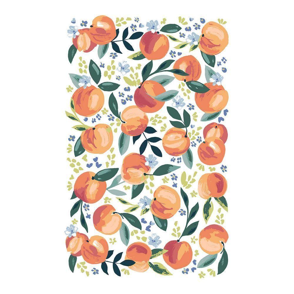 Ulster Weavers Cotton Tea Towel - Lifes Peachy (100% Cotton, Orange)