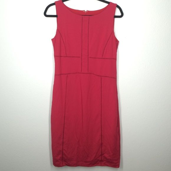 Ann Taylor red dress size 6 Beautiful red dress. Sloper style. Very clean! Zips up the back. Ann Taylor Dresses