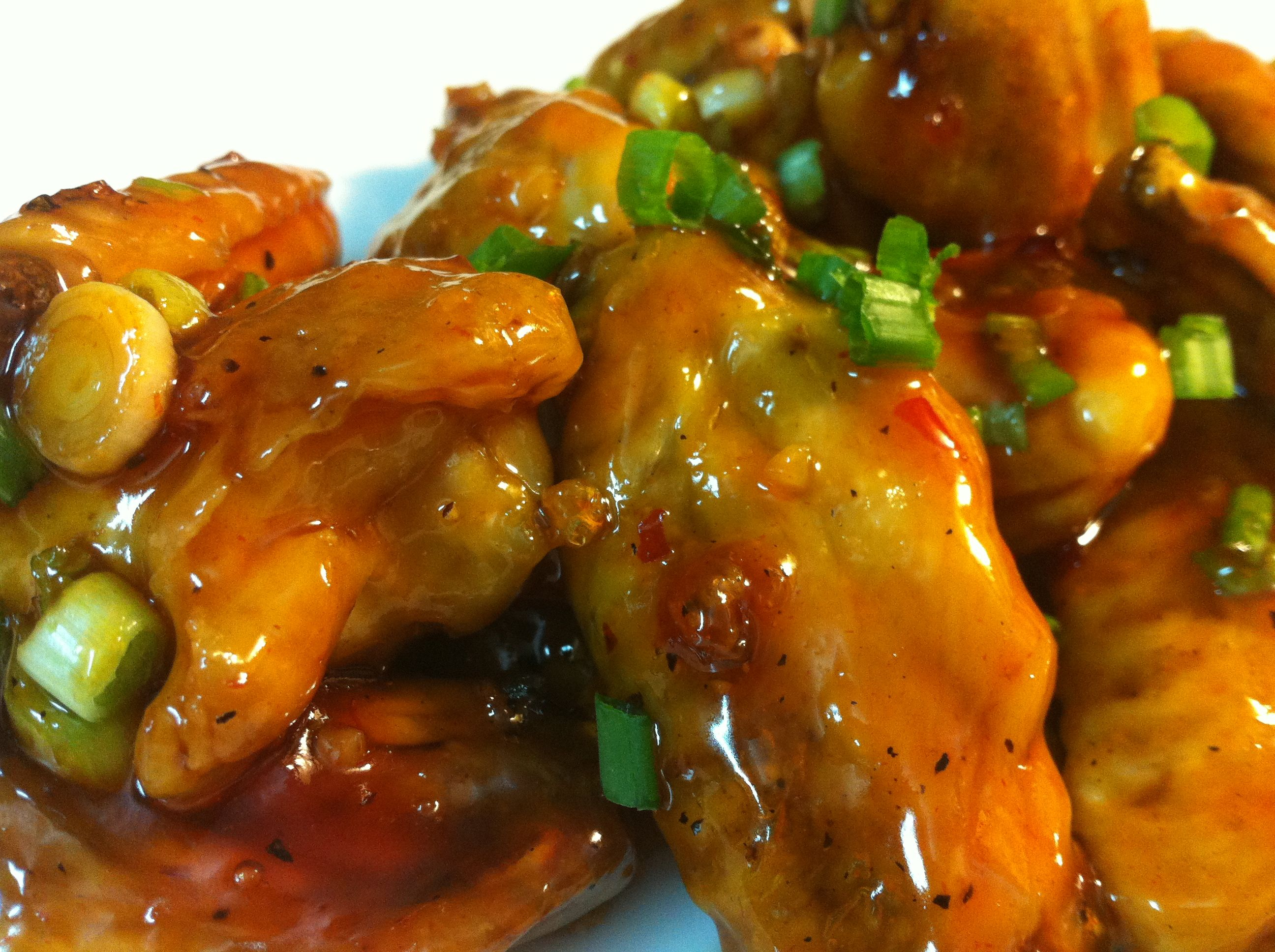 Spicy Maple glaze chicken wings