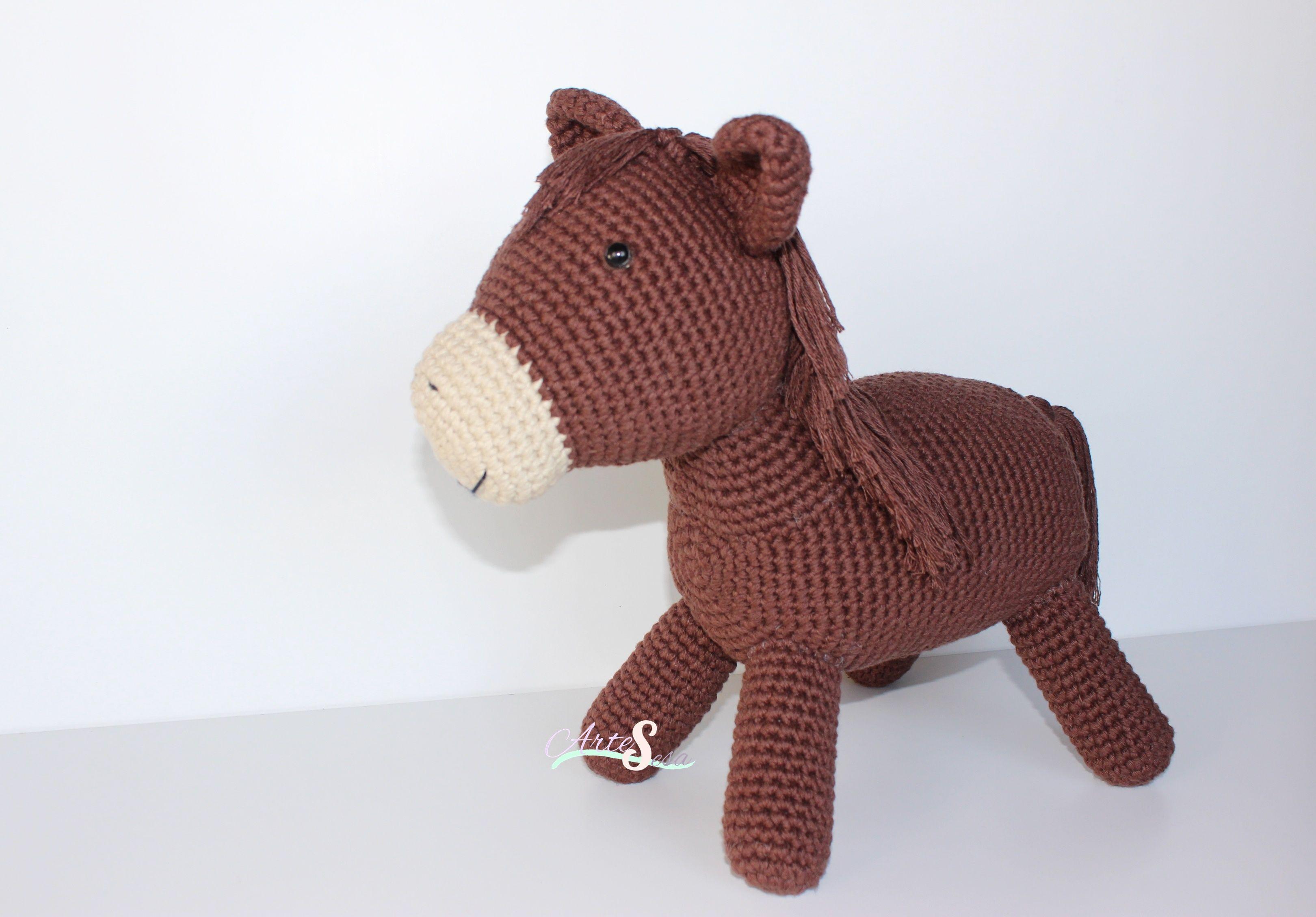 caballo tejido a ganchillo,caballo amigurumi | Artesesa | Pinterest ...