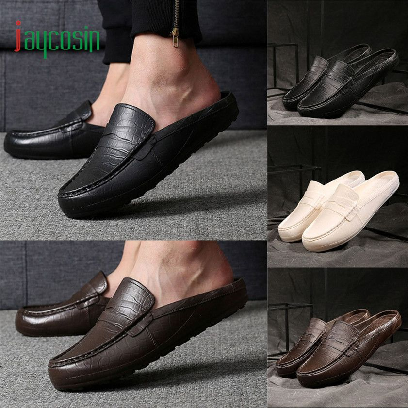 High quality Plastic Lazy Men Sandals Half Slipper Sandals Outdoor Casual Summer Shoes 170316
