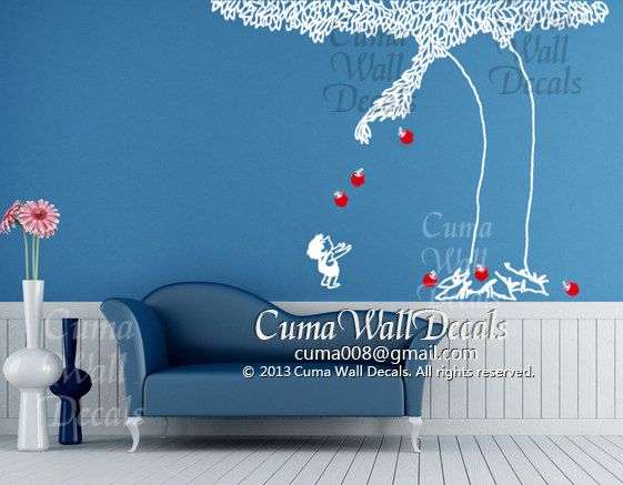 Shel Silverstein Wall Decal: The Giving Tree Wall Decal Nursery Vinyl Wall Decals Kids