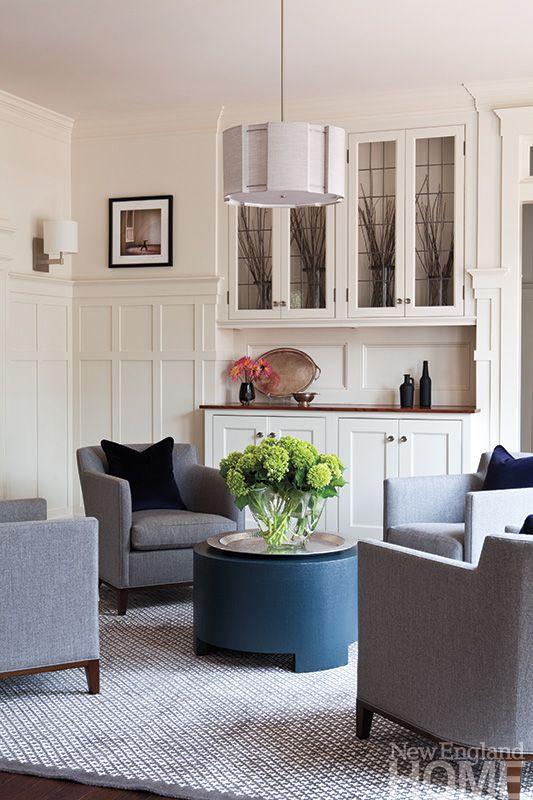 California Dreamy New England Home Magazine Room Seating