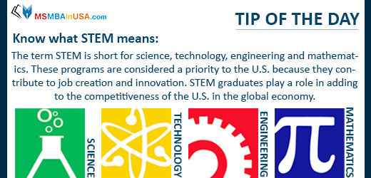 #studytip #tipoftheday #tip Know What STEM means Via MSMBAinUSA