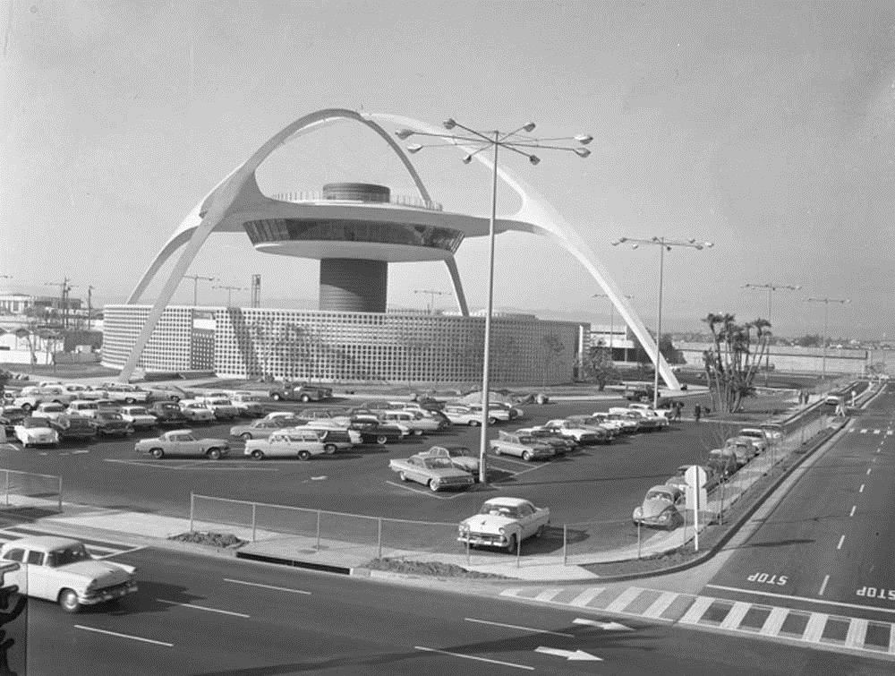 Lax Early 60s Googie Architecture Los Angeles Airport Jet Age