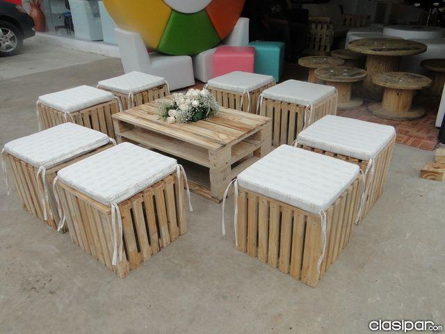 Muebles de palets en paraguay en asunci n muebles para fiestas pinterest paraguay palets - Venta muebles palets ...