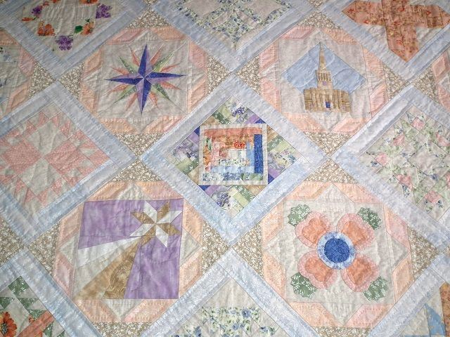 Peach and periwinkle anniversary sampler