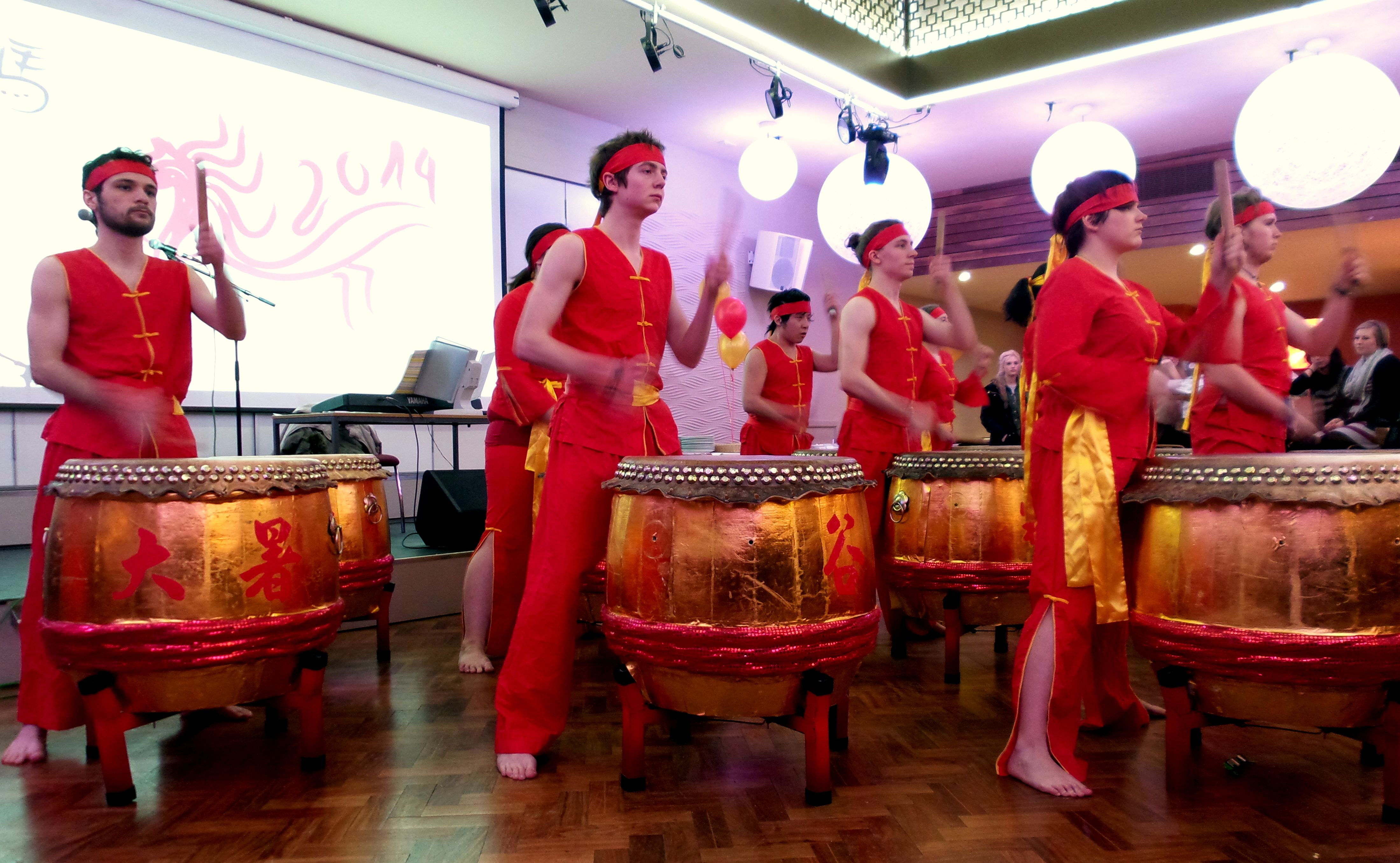 The festival drums were banging during Lunar New Year