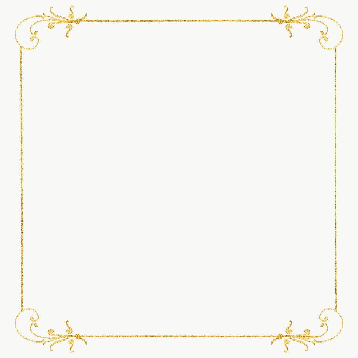 Gold Filigree Frame Border Png Free Image By Rawpixel Com Hwangmangjoo Antique Artwork Pinkish Gold Vintage Frames